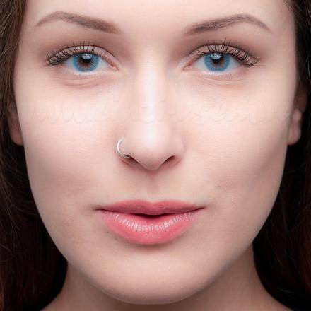 Цветные линзы EOS Dorie Sapphire фото 2